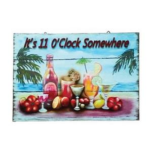 RAM Game Room 13.75-in x 20-in It's 11 O'Clock Somewhere Sign