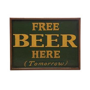 RAM Game Room 12-in x 16-in Free Beer Sign