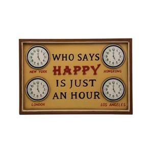 RAM Game Room 15-in x 23-in Who Says Happy Is Just an Hour Sign