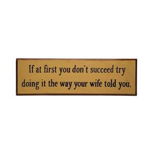 RAM Game Room 10-in x 30-in If at First You Don't Succeed Sign