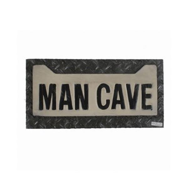 RAM Game Room Products 12.50-in x 21-in Metal Man Cave License Plate Sign