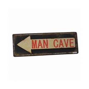 RAM Game Room 8.50-in x 24.50-in Metal Man Cave Arrow Sign