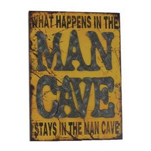 RAM Game Room 23-in x 19-in Metal What Happens in The Man Cave Sign