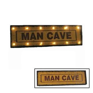 RAM Game Room Products 48-in Metal Man Cave Sign with Lights