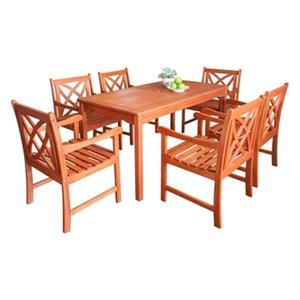 Vifah Malibu Eco-Friendly 7-Piece Outdoor Dining Set,V98SET1