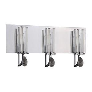 Amlite Lighting Medina Chrome 3-Light Bathroom Vanity Light