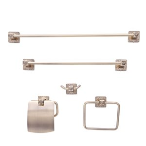 Dyconn Faucet Reno Series 5-Piece Brass Euro Bathroom Set