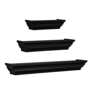 Nexxt Design Madison Black Wall Shelves (Set of 3)