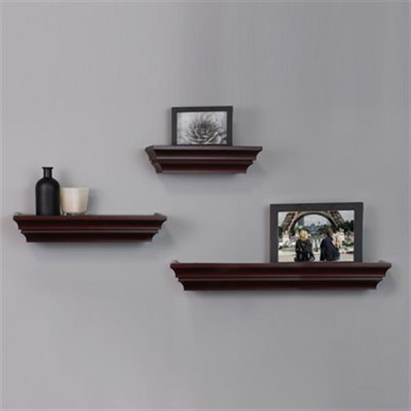 Nexxt Design Madison Espresso Wall Shelves (Set of 3)
