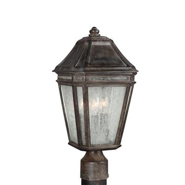 Feiss Londontowne 3-Light Weathered Chestnut Outdoor Post