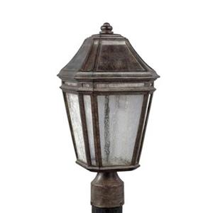 Feiss Londontowne LED Weathered Chestnut Post Mount Light