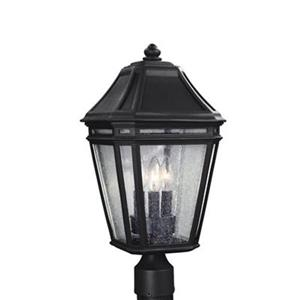 Feiss Londontowne 3-Light Black Light Post