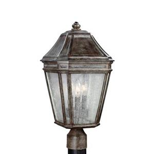 Feiss Londontowne 3-Light Weathered Chestnut Light Post