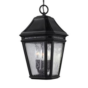 Feiss Londontowne Collection 8.25-in x 15-in Black Lantern 3-Light Pendant Light