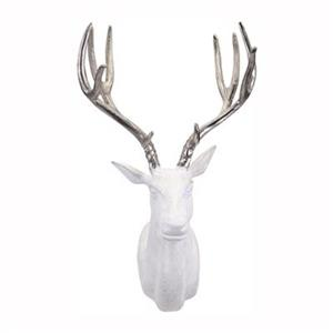 IMAX Worldwide 60190 Bowen White and Silver Deer Wall Mount,