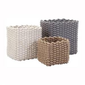 IMAX Worldwide Natural Cotton Rope Baskets (Set of 3)