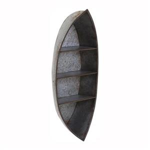 IMAX Worldwide Nelson Galvanized Canoe Wall Shelf