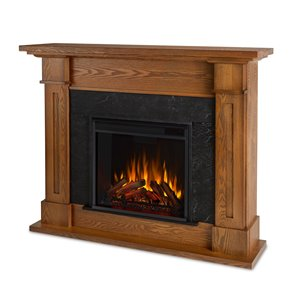 Real Flame Kipling  41.5-in x 53.50-in Brown Electric Fireplace