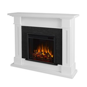 Real Flame Kipling  41.5-in x 53.50-in White Electric Fireplace