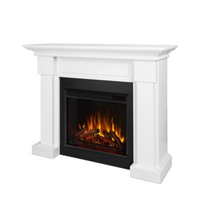 Real Flame Hillcrest 38.0-x 48.40-in White Electric Fireplace