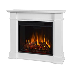 """Real Flame Devin Electric Fireplace - 4 700 BTUs - 11"""" x 30.4"""" - White"""