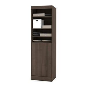 Bestar Nebula  25-in Brown 1 Door/Open Shelves Storage Unit