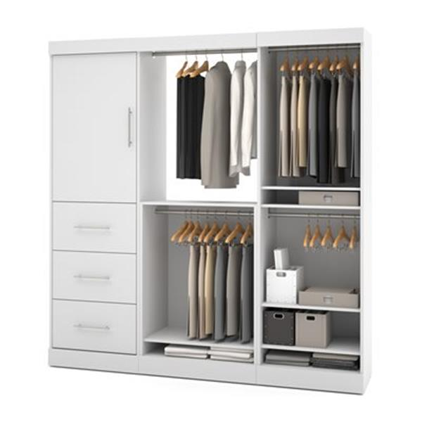 Bestar Nebula White 80-in 1 Door/3 Drawer Storage Kit