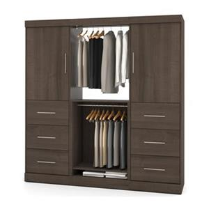 Bestar Nebula Brown 80-in 6 Drawer/2 Door Storage Kit