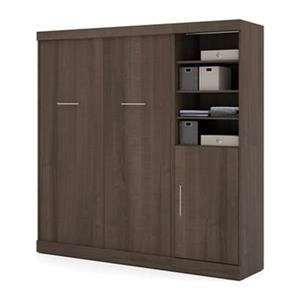 Bestar Nebula Collection 83.60-in x 83.30-in Antigua 84-in 1 Door Open Storage Murphy Style Bed