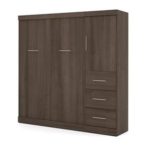 Bestar Nebula Collection 83.60-in x 83.30-in Antigua 84-in 1 Door 3 Drawer Murphy Style Bed