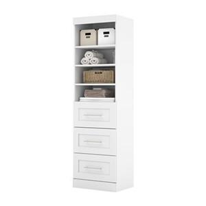 Bestar Pur Collection 25-in 3 Drawer/Open Shelves Stora