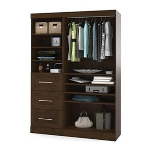Bestar Pur Collection Brown 61-in 3 Drawer/Open Shelves Classic Storage Kit