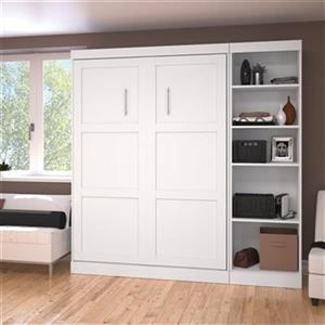 Bestar Pur Collection 83.70-in x 83.60-in White Single Side 25-in Open Storage Murphy Style Bed