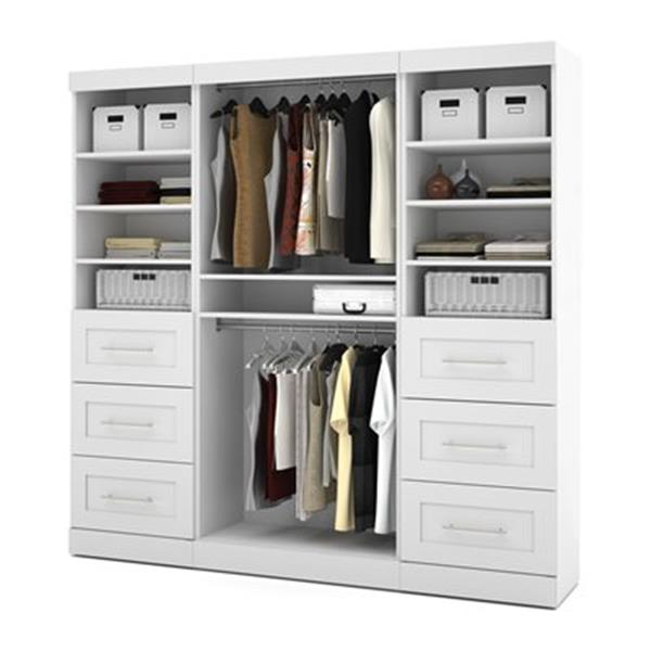 Bestar Pur Collection White 86-in 6 Drawer/Multi Shelf Classic Storage Kit