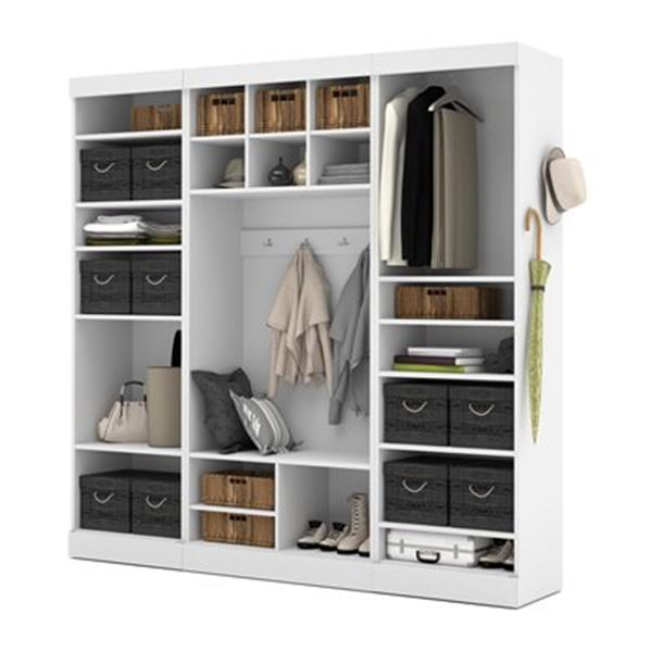 Bestar Pur Collection 86-in Mudroom Kit