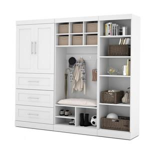 Bestar Pur Collection 97-in Mudroom Kit - White