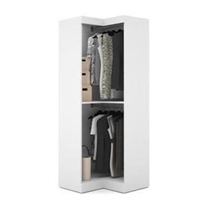 Bestar Pur Collection 32-in White Corner Storage Unit