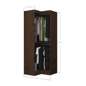 Bestar Pur 32-in Brown Corner Storage Unit