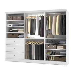 Bestar Versatile Collection White 108-in 3 Drawer/Multi Shelf Classic Storage Kit