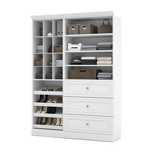 Bestar Versatile Collection White 61-in 3 Drawer/Multi Shelf Classic Storage Kit
