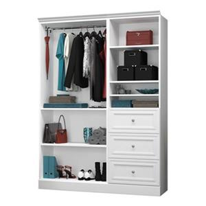 Bestar Versatile White 61-in 3 Drawer/Open Classic Storage Kit