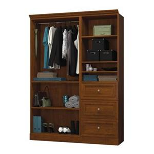 Bestar Versatile Collection Brown 61-in 3 Drawer/Open Classic Storage Kit