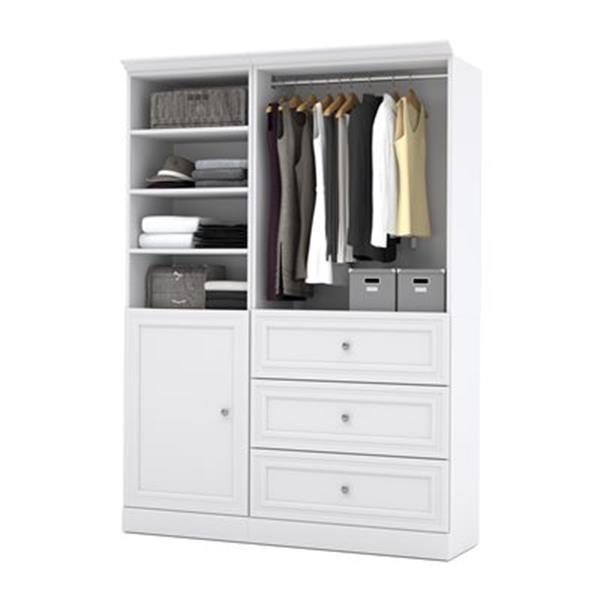 Bestar Versatile Brown 61-in 3 Drawer/1 Door Classic Storage Kit