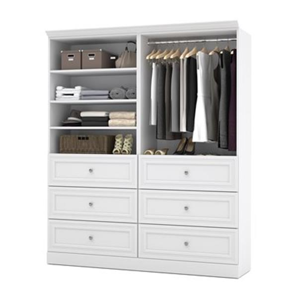 Bestar Versatile White 72-in Classic Storage Kit