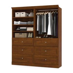 Bestar Versatile Collection Brown 72-in Classic Storage Kit