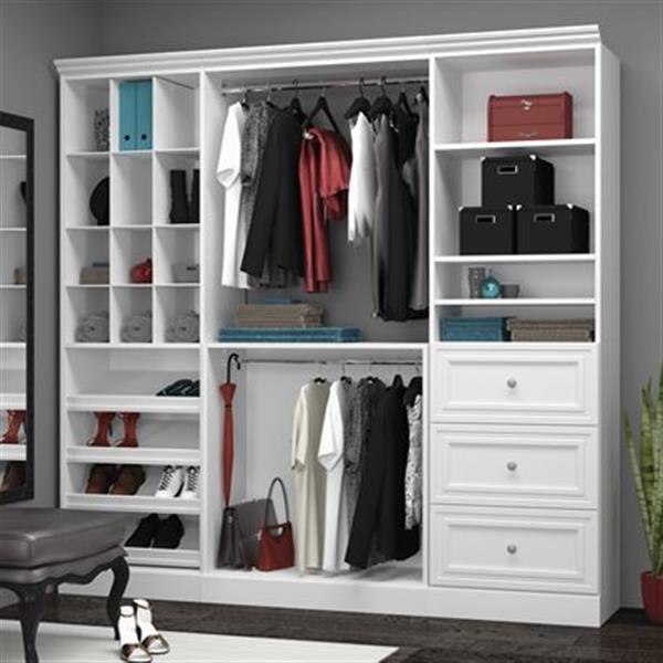 Bestar Versatile Collection White 86-in Classic Storage Kit