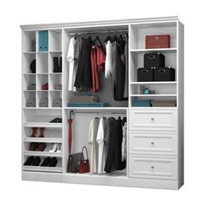 Bestar Versatile Collection White 86-in Classic Storage Kit
