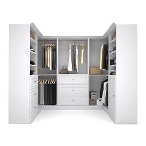 Bestar Versatile Collection White 108-in Corner Closet Kit