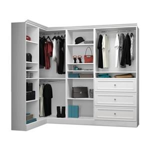 Bestar Versatile Collection White 90-in Corner Closet Kit