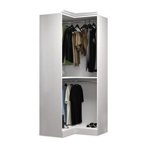 Bestar Versatile Collection White 36-in Corner Closet Unit